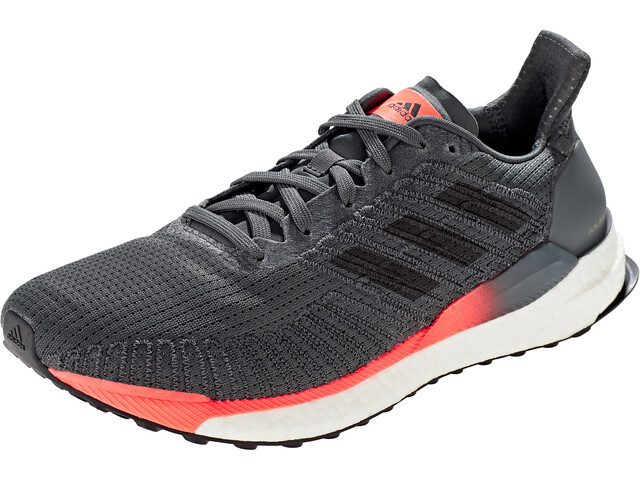 adidas Solar Boost 19 Low Cut Schoenen Heren, grey six/core black/signal coral